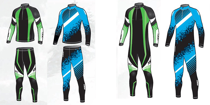 KV+ Club Racing Suits Options